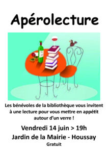 Affiche Aperolecture 14 juin 2019