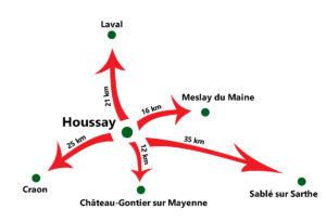 Carte localisation Houssay